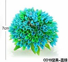simulation der wassertank im aquarium im garten - und landschaftsbau dekorationen blumen auf kleine grün und lila, große gruppen von ornamenten pflanze,- blau - grün co19