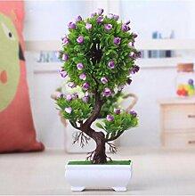 Simulation Künstliche Pflanze Blume Baum Grün Baum Topf (sehr viel Farbe) Wohnzimmer Tisch Plastik Blume Dekoration Lucky Feng Shui Dekoration (Multi-Color) , C