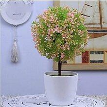 Simulation Künstliche Pflanze Blume Fake Blume Bonsai Kleine Baum (sehr viel Farbe) Ornamente Schläge Fake Baum Gras Ball Tischdekoration (Multi-Color) , z