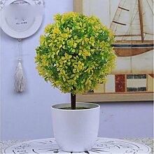 Simulation Künstliche Pflanze Blume Fake Blume Bonsai Kleine Baum (sehr viel Farbe) Ornamente Schläge Fake Baum Gras Ball Tischdekoration (Multi-Color) , w