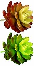 Simulation Sukkulenten Pflanzen 2 Stück