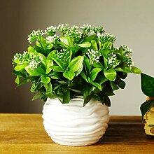 Simulation Von 7 Kleine Grüne Blätter, Künstliche Pflanze Wand, Hintergrund Wand Material, Blumenschmuck, Blumen, Blätter, Gras, Falsche Gras, Das Blatt Der Rhododendron