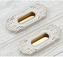 Simwood™ Möbelknopf Vintage Möbelgriff Schrankgriff aus Metall Ausführung Altmessing Messing Schranktür Schubladengriffe