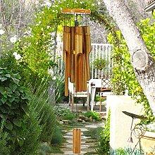 sinfinate Bambus-Windspiel für den Außenbereich,