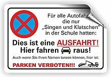 SINGEN & KLATSCHEN 02 / Parkverbotsschild (3
