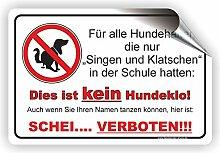 Singen und Klatschen - Kein Hundeklo Schild / Kein Hundekot / T-007 (45x30cm Aufkleber)