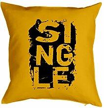 SINGLE Deko Kissen ::: Single ::: Gelb