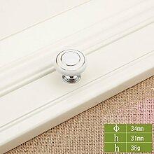 Single Hole Griff Schublade Hardware Griff Chinesische Keramik Schrank Möbel Runde White Griff (10 Stück) ( Farbe : 7# )