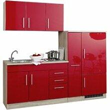 Single-Küchenzeile 210 TERAMO-03 Hochglanz Rot
