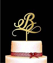 Single Letter Monogramm Hochzeit Cake Topper mit