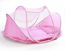 Single Reisebett für Kinder blau/rosa (Pink)