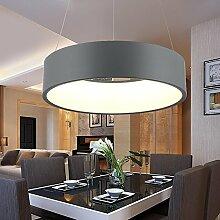 Single Ring Einfache Kronleuchter Deckenlampe, runder Esstisch Kronleuchter LED-Taschenlampe die Schlafzimmer, Lounge, Esszimmer Studie trailer Mode Lampen Kronleuchter Anhänger der Beleuchtung Laternen leuchten (Farbe: Remote Control-45-cm-28-W Schwarz)