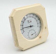 Single Sauna Holz Hygrothermograph Thermometer Hygrometer Sauna Zubehör