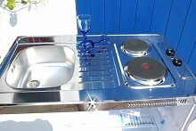 Singleküche Pantryküche 100 cm weiß Miniküche