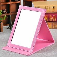 singlePU Desktop-Spiegel minimalistischer Kosmetikspiegel portable Spiegel Portable klappbare Spiegel Prinzessin-L