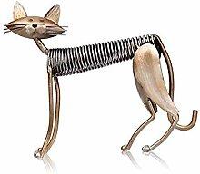 SIPAK Metall Katze Dekoskulptur Dekofigur zum