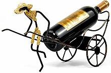 SIPAK Rickshaw Weinregal Retro Schmiedeeisen