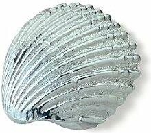 SIRO Möbelgriff Achim, Meer, Muschel, Design, Zinkdruckguß - Chrom glänzend, LA 16 mm, 1124-43ZN1