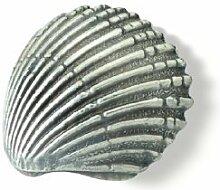 SIRO Möbelgriff Achim, Meer, Muschel, Design, Zinkdruckguß - Zinnfarbig, LA 16 mm, 1124-43ZN28