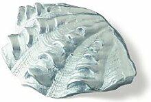 SIRO Möbelgriff Senftenberg, Meer, Muschel, Design, Zinkdruckguß - Chrom matt, LA 16 mm, 1122-59ZN2