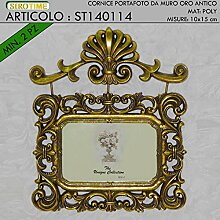 Siro Time Bilderrahmen, Fotorahmen, Gold Antik,