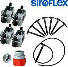 Siroflex–Kit Bewässerung für 8Pflanzen
