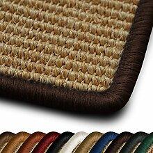 Sisal Läufer / Teppich myStyle | Kettelung in Wunschfarbe | Naturfaser | viele Größen zur Auswahl (Kettelung Dunkelbraun, 100x550 cm)