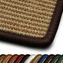 Sisal Läufer / Teppich myStyle | Kettelung in Wunschfarbe | Naturfaser | viele Größen zur Auswahl (Kettelung Dunkelbraun, 80x350 cm)