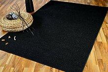 Sisal Natur Teppich Sisalo Schwarz Mix SONDERAKTION in 24 Größen