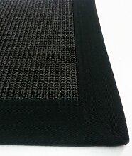Sisal Teppich Bordürenteppich Naturfaser schwarz 44-40 (140x200cm)