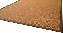 Sisal Teppich Brazil mit Bordüre Farbe braun
