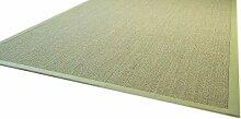 Sisal Teppich Brazil mit Bordüre Farbe grün