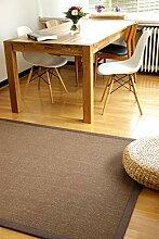 Sisal Teppich Coffee braun 190x280 cm 100%