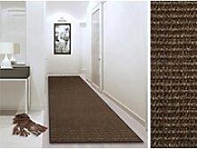 Sisal-Teppich Floordirekt STEP Sylt Dunkelbraun