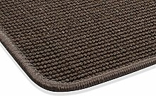Sisal Teppich Kettelteppich Naturfaser Läufer Flachgewebe braun, verschiedene Größen, Variante: 67 x 133 cm