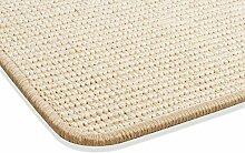 Sisal Teppich Kettelteppich Naturfaser Läufer Flachgewebe creme natur beige, verschiedene Größen, Variante: 133 x 190 cm