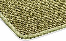 Sisal Teppich Kettelteppich Naturfaser Läufer Flachgewebe grün, verschiedene Größen, Variante: 67 x 133 cm