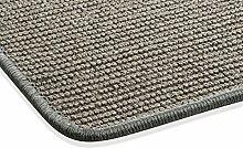 Sisal Teppich Kettelteppich Naturfaser Läufer Flachgewebe grau silber, verschiedene Größen, Variante: 67 x 133 cm