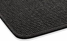 Sisal Teppich Kettelteppich Naturfaser Läufer Flachgewebe schwarz, verschiedene Größen, Variante: 67 x 133 cm