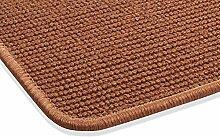 Sisal Teppich Kettelteppich Naturfaser Läufer Flachgewebe terra rot braun, verschiedene Größen, Variante: 60 x 100 cm