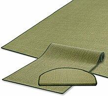 Sisal Teppich / Läufer | grün | Naturfaser | Qualitätsprodukt aus Deutschland | kombinierbar mit Stufenmatten | 19 Breiten und 18 Längen (200x150 cm)