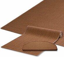 Sisal Teppich / Läufer | nougat braun | Naturfaser | Qualitätsprodukt aus Deutschland | kombinierbar mit Sisal-Stufenmatten | 19 Breiten und 18 Längen (200x300 cm)