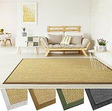 Sisal Teppich mit Bordüre | Premium Qualität mit