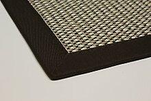 Sisal-Teppich modern hochwertige Bordüre Flachgewebe braun beige natur, verschiedene Größen, Variante: 120 x 170 cm