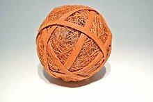 Sisalball / Rattanball orange-beglimmert 10 Stück