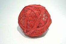 Sisalball / Rattanball rot-beglimmert 10 Stück Ø