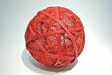 Sisalball / Rattanball rot-beglimmert 4 Stück Ø
