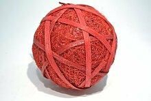 Sisalball / Rattanball rot-beglimmert 6 Stück Ø