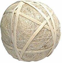 Sisalball / Rattanball weiss/creme-beglimmert 6