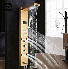 Badinstallation Axiba Einhand zeitgenössischen Farbwechsel LED Dusche Wasserhahn mit 8-Zoll-Duschkopf Handbrause